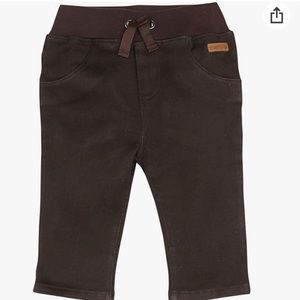 New! Robeez Pull On Soft Jean Pants Espresso Brown
